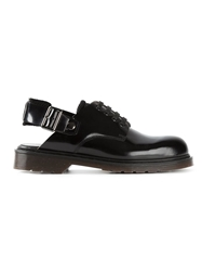 Carven Slingback Lace Up Shoes Black