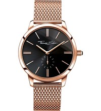 Thomas Sabo Glam And Soul Rose Gold Toned Stainless Steel Watch