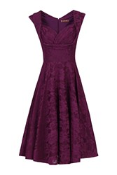 Jolie Moi Ruched Crossover Bust Prom Dress Dark Purple