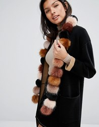 Urbancode Faux Fur Pom Long Scarf Multi
