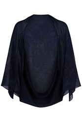 Damsel In A Dress Embossed Cape Navy
