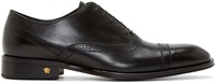 Versace Black Perforated Leather Oxfords