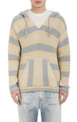 Outerknown Men's Striped Hooded Poncho Multi