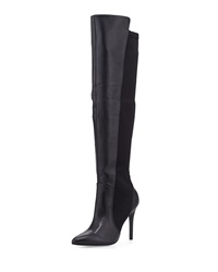Charles David Persona Leather Over The Knee Stretch Boot Black