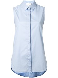 3.1 Phillip Lim Sleeveless Shirt Blue