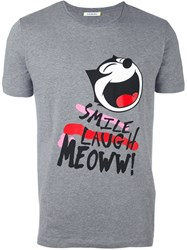 Iceberg Felix The Cat T Shirt Grey