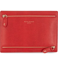 Aspinal Of London Multi Currency Leather Wallet Berry
