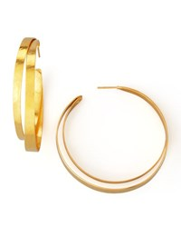 Herve Van Der Straeten Ruban Small Hoop Earrings Gold