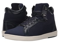 Ted Baker Stoorb 2 Dark Blue Textile Men's Lace Up Casual Shoes Black