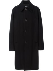 Raf Simons Oversize Single Breasted Coat Black