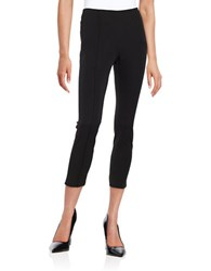 Michael Michael Kors Petite Cropped Cotton Stretch Pants Black