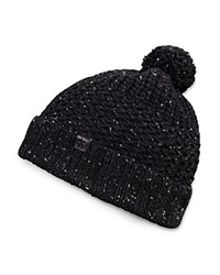 Bickley And Mitchell Knitted Turncuff Pom Pom Beanie Black