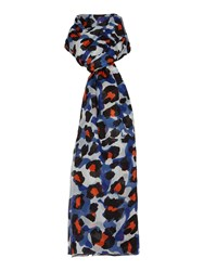 Lola Rose Camoflage Leopard Print Scarf Blue