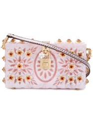 Dolce And Gabbana 'Dolce' Box Shoulder Bag Pink Purple