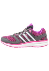 Adidas Performance Questar Cushioned Running Shoes White Shock Purple Granit Pink