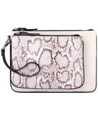 Nine West Table Pouch Large Clutch White Multi