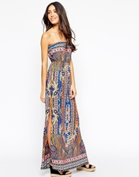 Meghan Fabulous Sihu Maxi Dress Blue