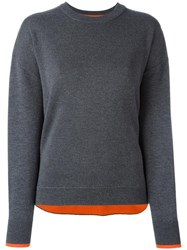 Enfold Crew Neck Loose Fit Jumper Grey