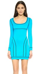 Dsquared Piped Knit Dress Turquoise