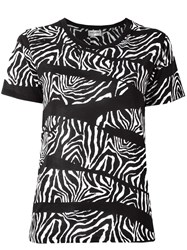 Saint Laurent Zebra Print T Shirt Black