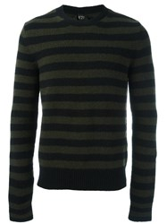 N 21 No21 Striped Jumper Green