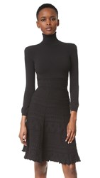 Dsquared Long Sleeve Knit Dress Black