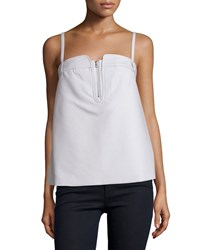 Opening Ceremony Petal Sleeveless Half Zip Tank Clay Gray Clay Grey