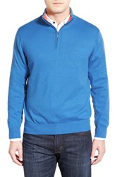 Men's Toscano Quarter Zip Sweater French Blue