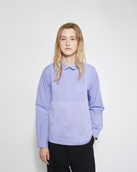 Chimala Round Collar Shirt Blue Purple