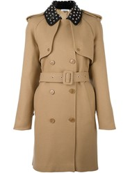 J.W.Anderson Studded Collar Trenchcoat Nude Neutrals