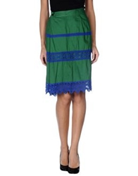 Zucca Knee Length Skirts Green
