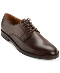 Polo Ralph Lauren Men's Mollington Leather Plain Toe Oxfords Men's Shoes Dark Brown