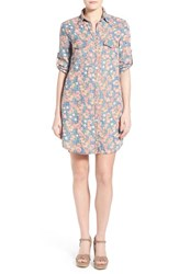 Women's Kut From The Kloth 'Ruthy' Floral Print Shirtdress