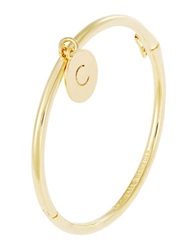 Kate Spade Engraved Letter C Charm Bangle Gold