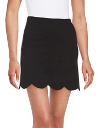 Design Lab Lord And Taylor Scalloped Mini Skirt Black