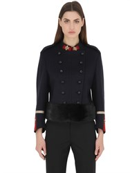 Gucci Double Breast Wool Military Jacket