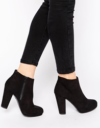 New Look Heeled Ankle Boots Black