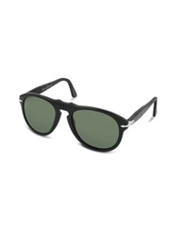 Persol Arrow Signature Aviator Plastic Sunglasses Black Green