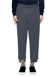 Kolor Camouflage Print Extended Cuff Pants Grey