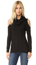 Haute Hippie Cold Shoulder Sweater Black