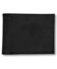 Buxton Wallet Baja Rfid Blocking Faux Leather Billfold Black