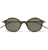 Thom Browne Round Frame Acetate And Metal Sunglasses Brown