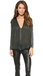 Ramy Brook Ariel Solid Blouse Granite