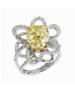 Lorenz Baumer Eruption Solitaire Ring Yellow