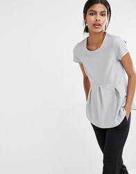 Y.A.S Unia Short Sleeve Blouse Grey