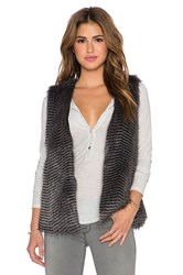Bb Dakota Duda Faux Fur Vest Gray