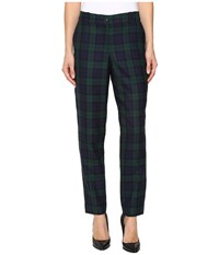 Pendleton Slim Pants Black Watch Worsted Tartan Women's Casual Pants