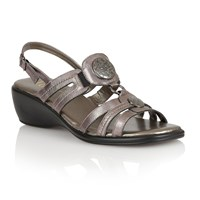 Lotus Berty Open Toe Sandals Pewter