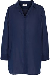 Mih Jeans Oversized Cotton Twill Shirt Blue
