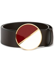 Marni Two Tone Buckle Belt Brown